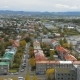 Panorama of Reykjavik City From Top in Autumn Time, View on Multi Colored Roofs - VideoHive Item for Sale
