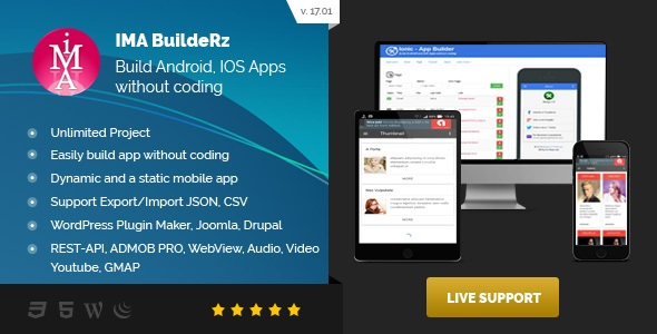 Ionic Mobile App Builder - CodeCanyon Item for Sale