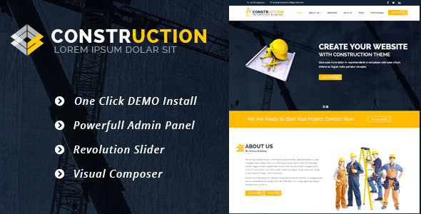 Construction –  Construction, Renovation Business WordPress Theme - Real Estate WordPress
