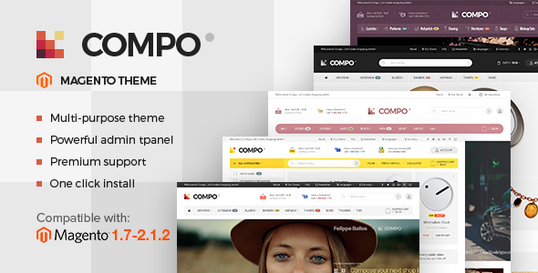 Compo - Multi-Purpose Responsive Magento 2 and Magento 1 Theme - Magento eCommerce