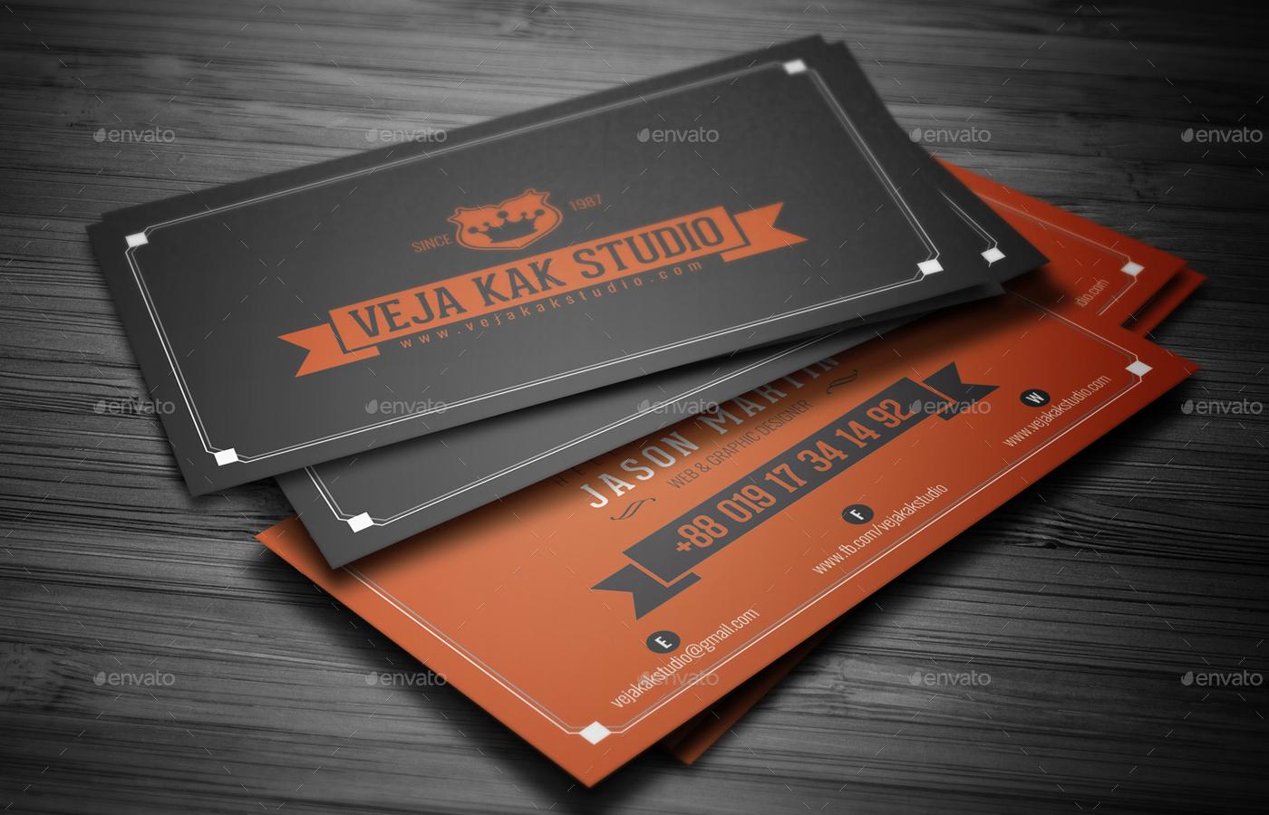 Vintage business card by vejakakstudio graphicriver vintage business card colourmoves