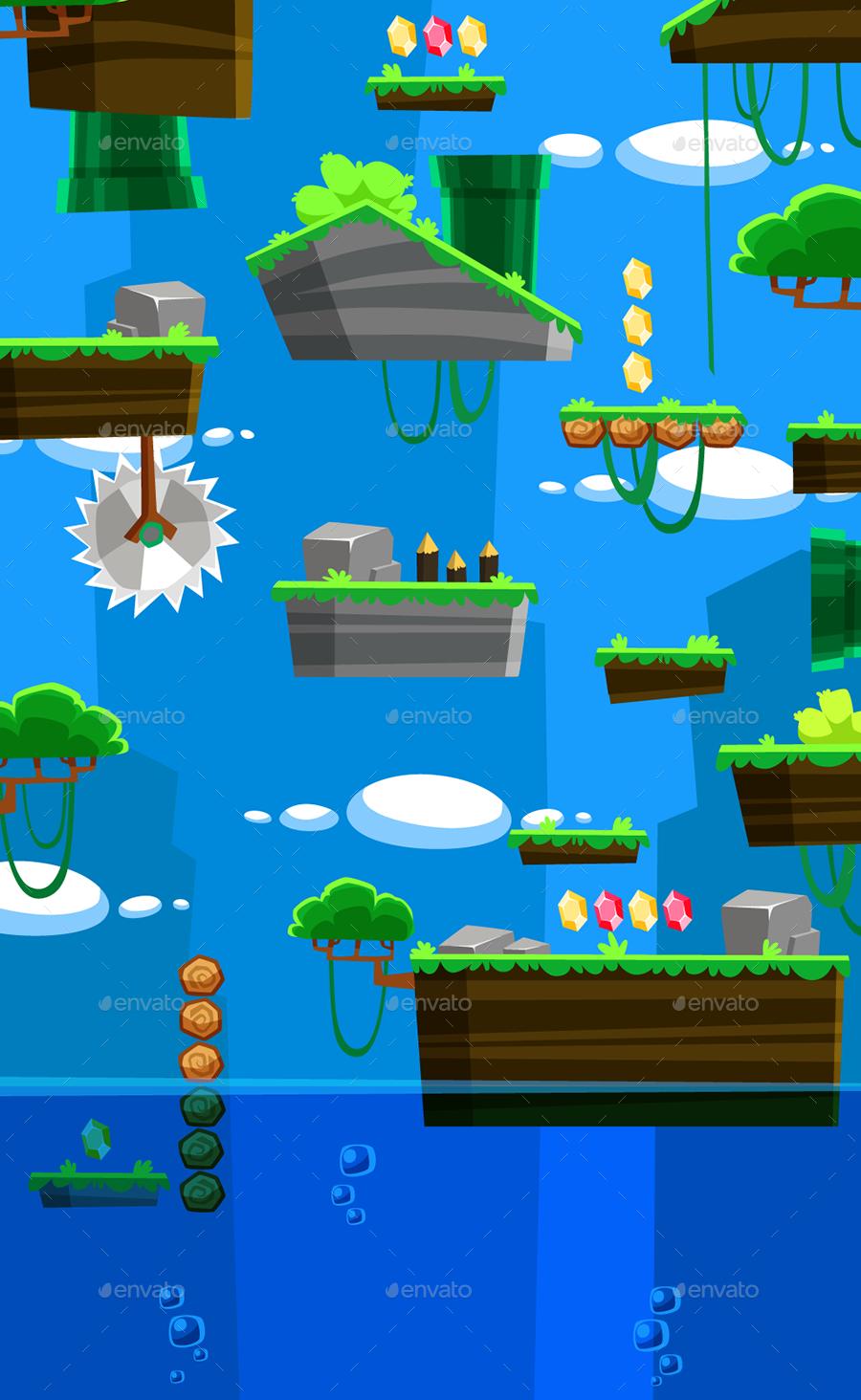 vertical game background set  1 by puslatronik