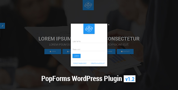 PopForms | Material Design WordPress Modal Forms Set