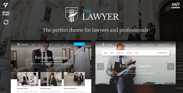 TheLawyer – Lawyer WordPress Theme for Lawyers, Attorneys & Law Firms - Business Corporate