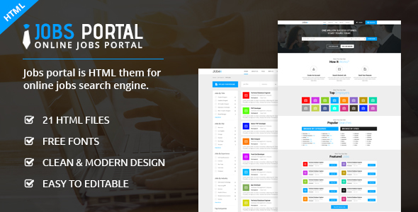 Jobs Portal – Online Jobs Search Template