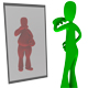 Fat and thin person looking in mirror - GraphicRiver Item for Sale