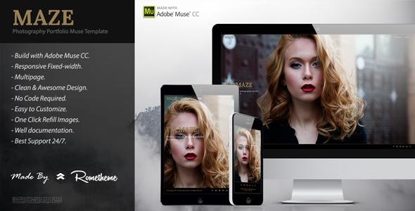 MAZE – Photography Portfolio Muse Template