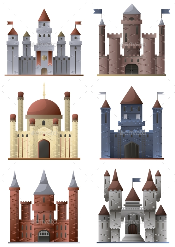 Set of Towers and Castles - Buildings Objects