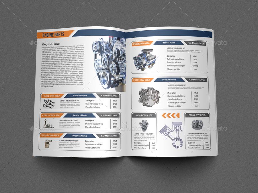 auto parts catalog brochure bundle template vol 2 by owpictures