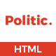 Politic – Political HTML Template - ThemeForest Item for Sale