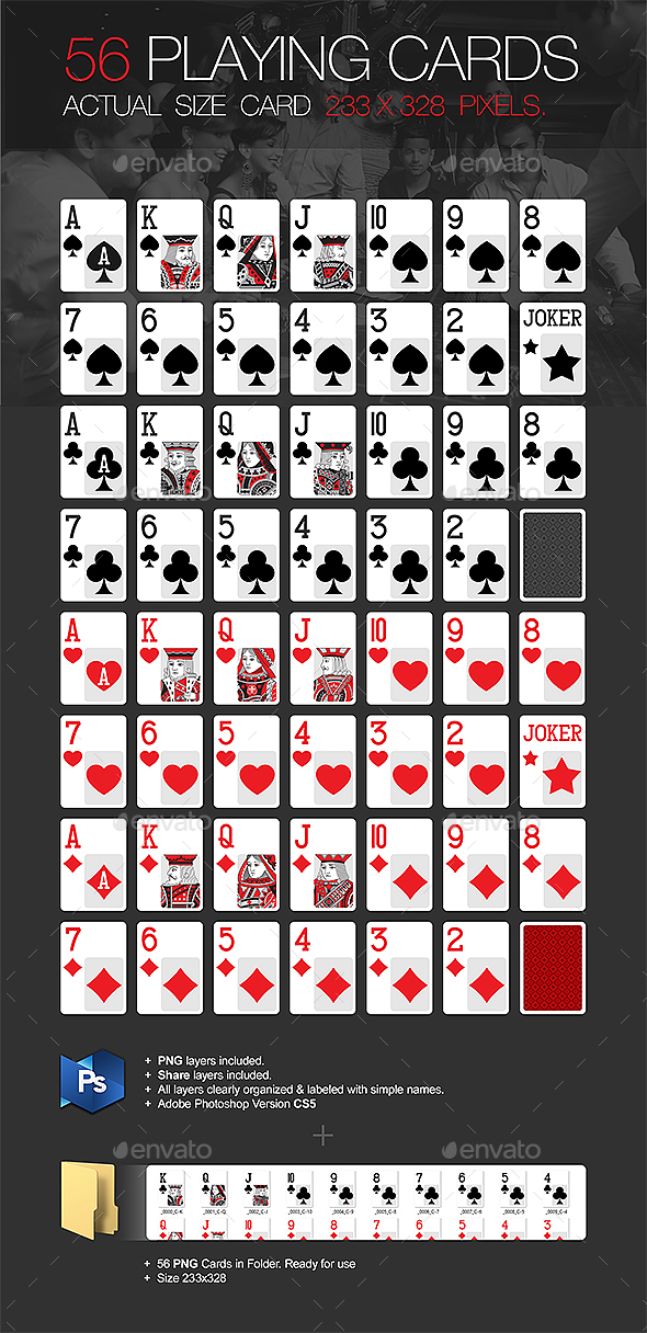 56 Playing Cards - Miscellaneous Graphics