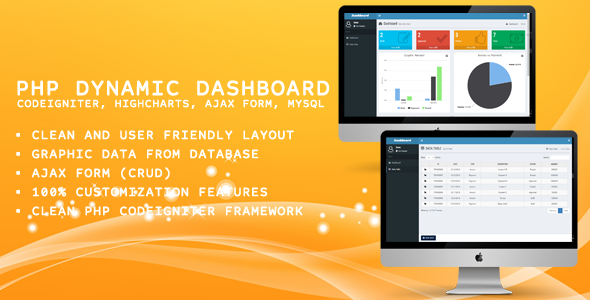 PHP Dashboard (Codeigniter, Highcharts, Ajax Form, MySQL)