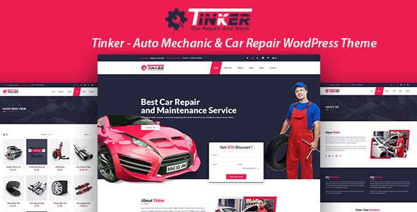 Tinker – Auto Mechanic & Car Repair WordPress Theme