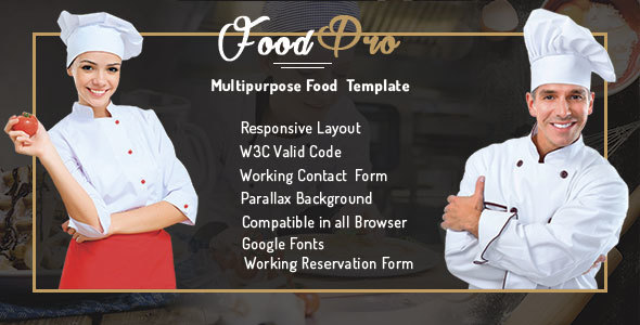 FoodPro Pizza - Icecream - Bakery - Restaurant Multipurpose Template - Restaurants & Cafes Entertainment