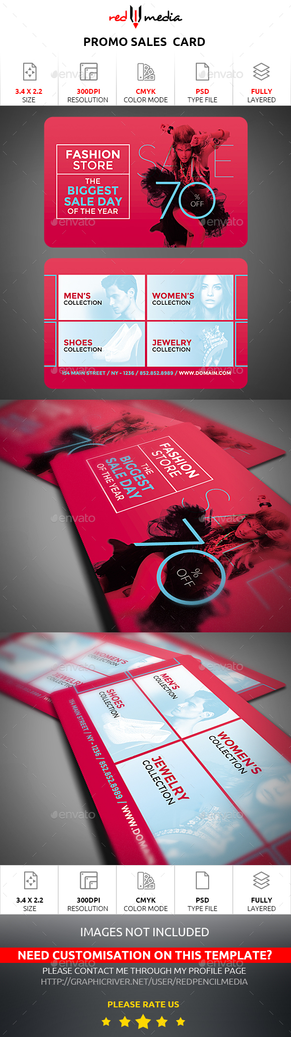 Promo Sales Card - Cards & Invites Print Templates