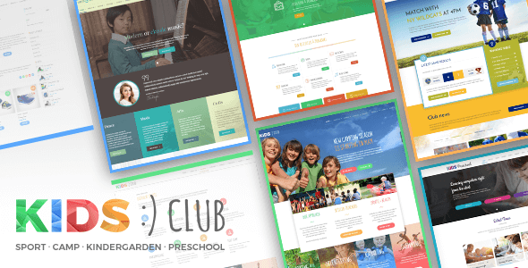 Kids Club – Sport, Kindergarten, Preschool & Camp WordPress Theme