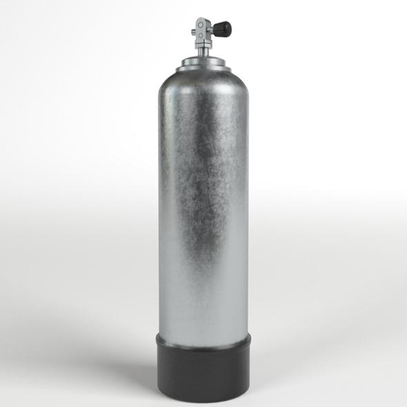 Scuba Diving Tank (gas cylinder) - 3DOcean Item for Sale