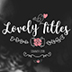 Lovely Titles - VideoHive Item for Sale
