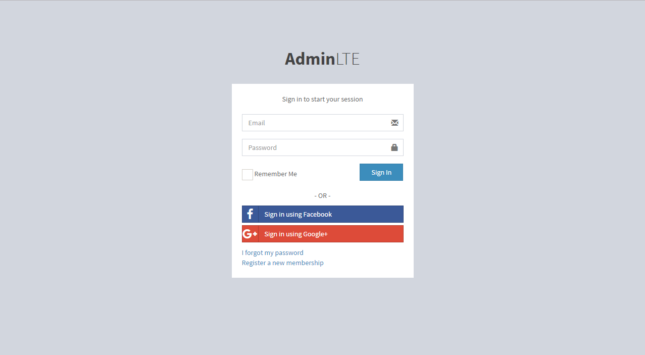 CodeIgniter integrated with AdminLTE Template by ciptaweb   CodeCanyon