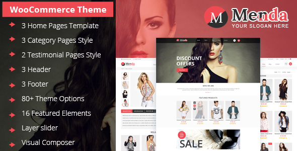 Menda – Multi Purpose WooCommerce Theme