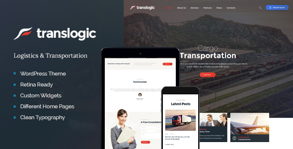 Translogic | Logistics & Transportation WP Theme - Business Corporate