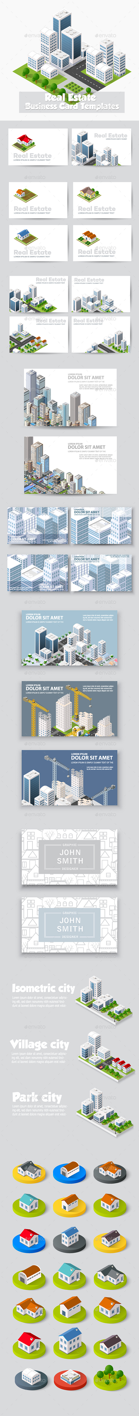 Building Business Cards - Buildings Objects