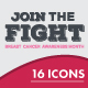 Breast Cancer Vector Icons - GraphicRiver Item for Sale