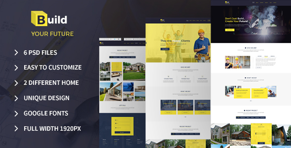 Build Your Future – Construction PSD Template