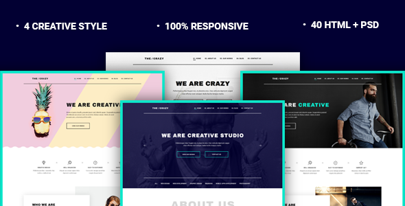 The Crazy - Creative Agency HTML5 Template - Creative Site Templates