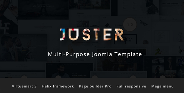Juster - Multi-Purpose Joomla Template with Page builder and Virtuemart - Joomla CMS Themes