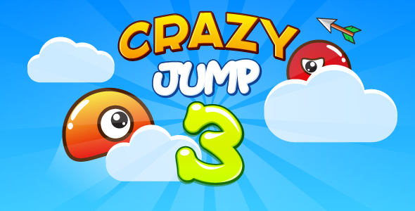 Crazy jump 3 - HTML5 game. Construct 2 (capx) + mobile + ADS - CodeCanyon Item for Sale