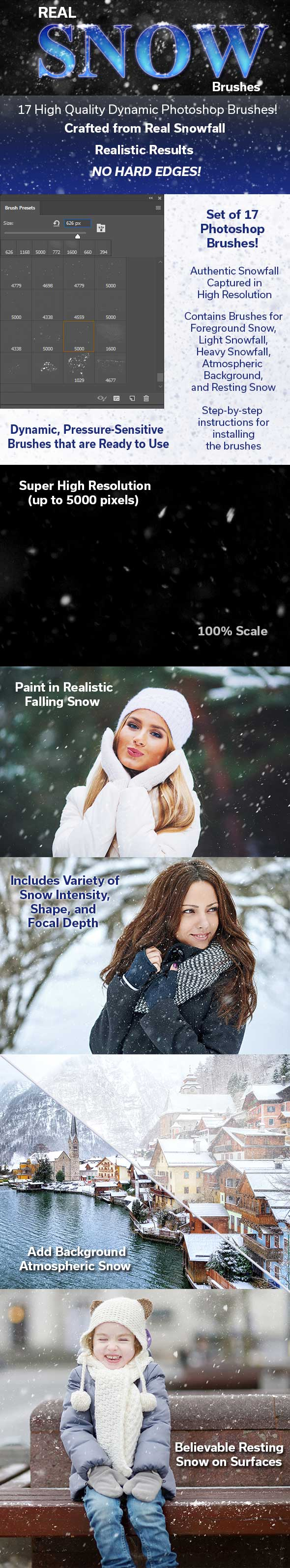 Real Snow Photoshop Brushes - Miscellaneous Brushes