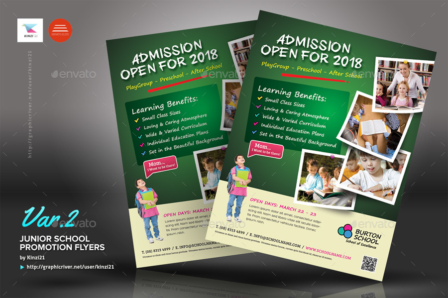 Junior School Promotion Flyers by kinzi21 | GraphicRiver