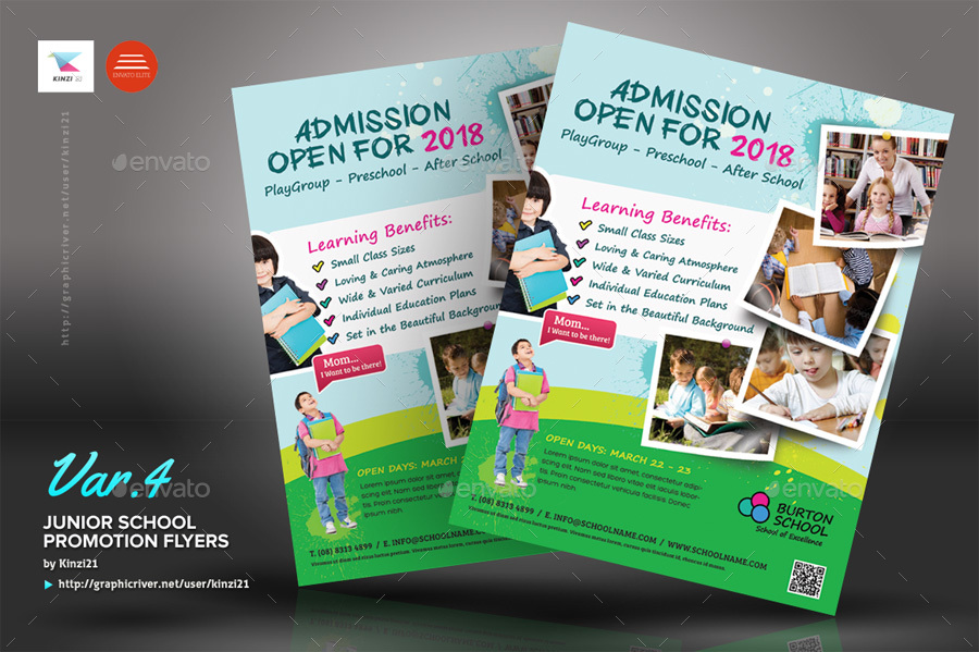 Junior School Promotion Flyers By Kinzi21 Graphicriver