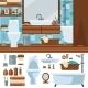 Bathroom Interior Design.  - GraphicRiver Item for Sale