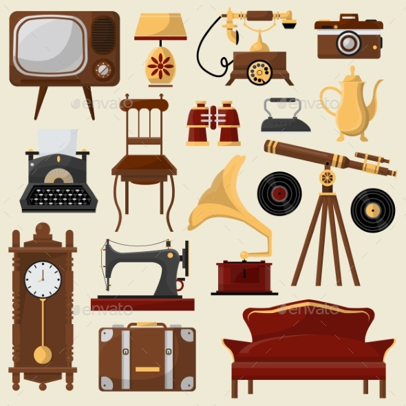 Vintage Home Furniture and Accessories. - Backgrounds Decorative