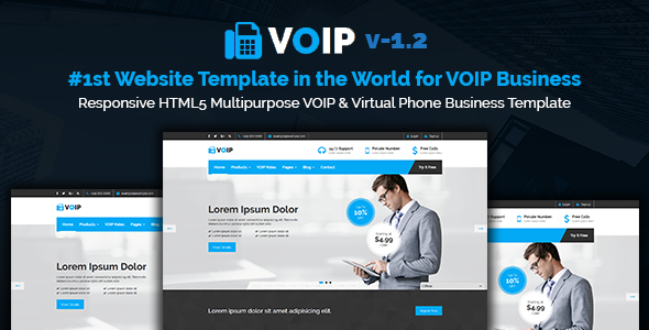 VOIP | Responsive HTML5 Multipurpose VOIP & Virtual Phone Business Template