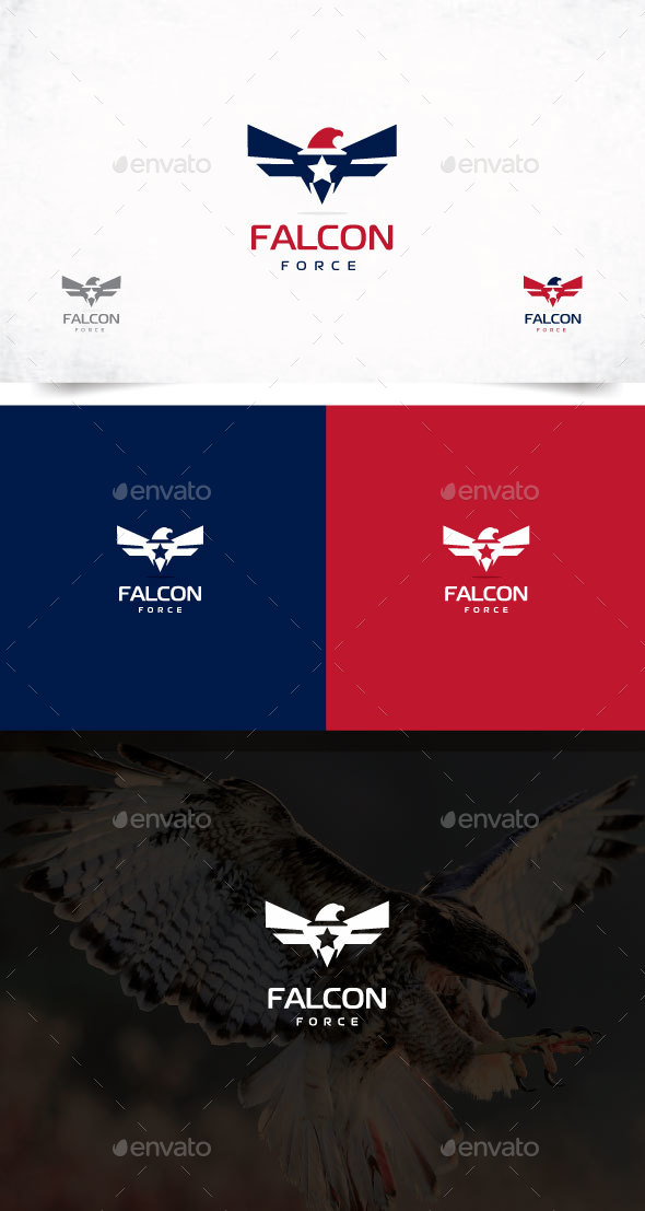 Falcon Logo, Eagle logo design - Animals Logo Templates