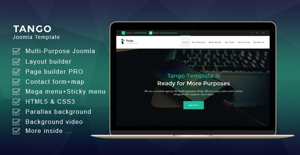 Image of Tango - Joomla Multi-Purpose Landing Page