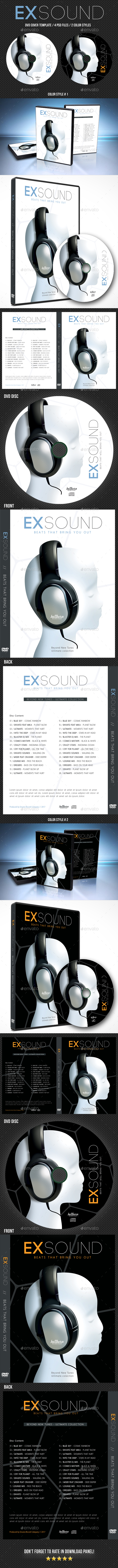Exsound DVD Cover Template V3 - CD & DVD Artwork Print Templates