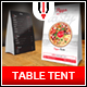 Pizza Table Tent Menu - GraphicRiver Item for Sale
