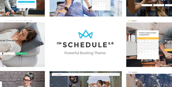 OnSchedule – A Booking Theme for Business and Retail