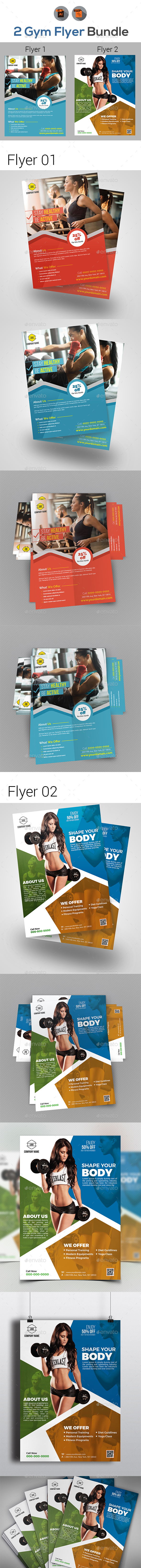Fitness Flyers Template - Flyers Print Templates
