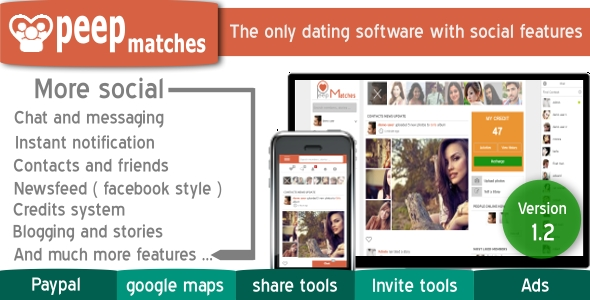 Peepmatches - Advanced php dating and social script - CodeCanyon Item for Sale