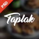 Taplak - Modern Food Recipe PSD Template - ThemeForest Item for Sale