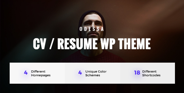 Odessa – Personal Resume, CV, VCard WordPress Theme