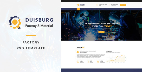 Duisburg - Factory PSD Template - Business Corporate