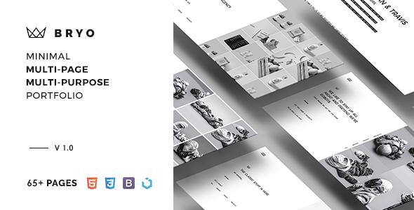BRYO – Minimal Multi-Page & Multi-Purpose Portfolio