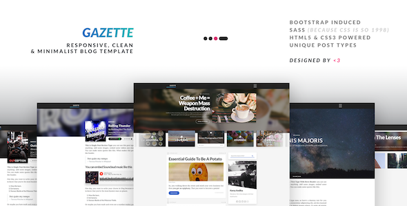 Gazette – Responsive Clean & Minimalist Multipurpose Blog Template