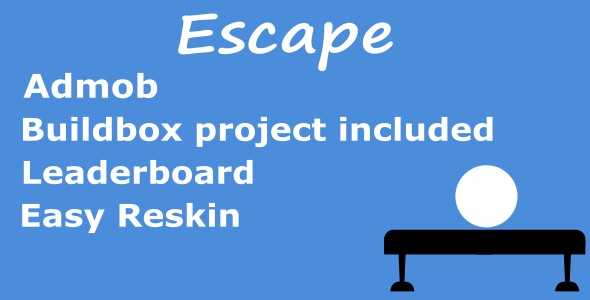 Escape | Admob | Leaderboard | Buildbox and eclipse - CodeCanyon Item for Sale